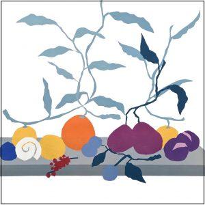 Stilleven met vruchten en slakkenhuizen - Rob van Es