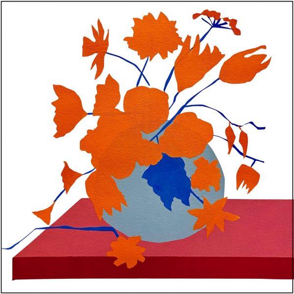 Stilleven met bloemen in vaas - Rob van Es