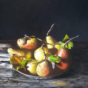 Peren in roestig schaaltje - Jan Teunissen
