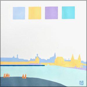 Luchtspiegeling boven Vermeers Delft- Rob van Es