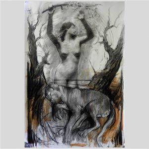 Sleeping dog with naked woman - Nico Vrielink