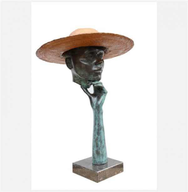 Portret met hoed - Rob van den Broek