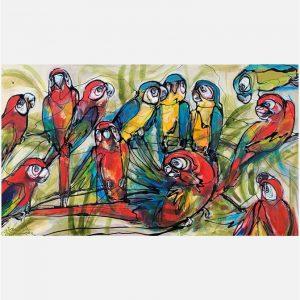 Red 'n blue Ara's - Janet Timmerije