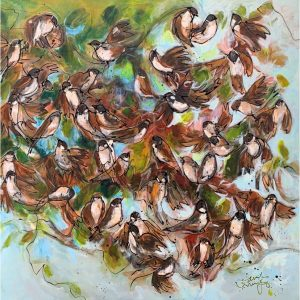 Bushes 'n sparrows - Janet Timmerije
