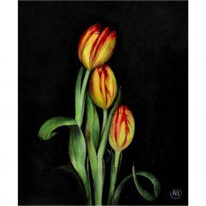 Poëtische tulpen - Viv Hermans