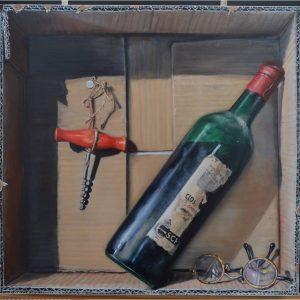 Wijnfles in karton - Bets van Boxel