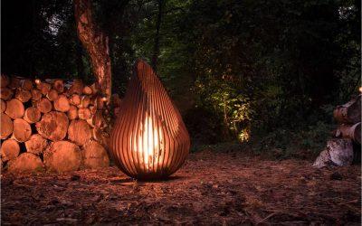 Dewdrop vuurkorf – tussen kunst en design