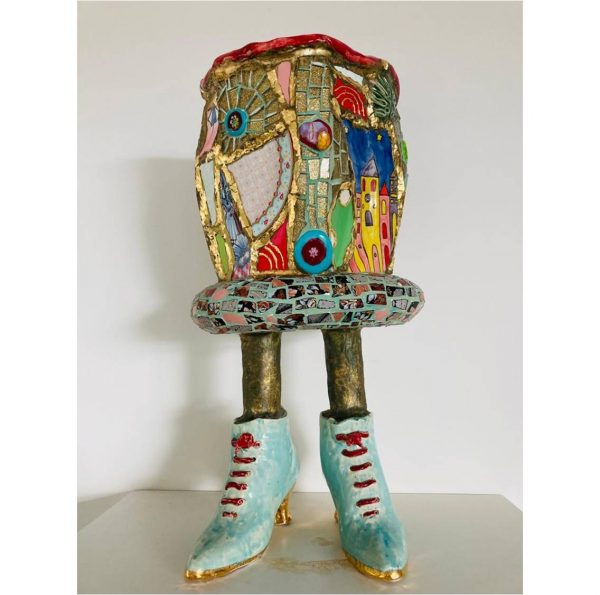 Blauwe schoenen - Marianne den Hartog